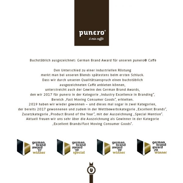 German Brand Awards für punero Caffè
