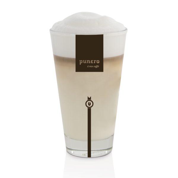 punero Collezione hochwertiges Latte Macchiato Glass