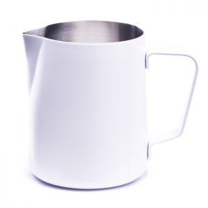 Weißer Milchpitcher mit Pulverbeschichtung