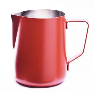 Stylischer roter Milchpitcher für Baristi