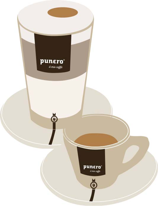 punero Kaffeetassen Illustration