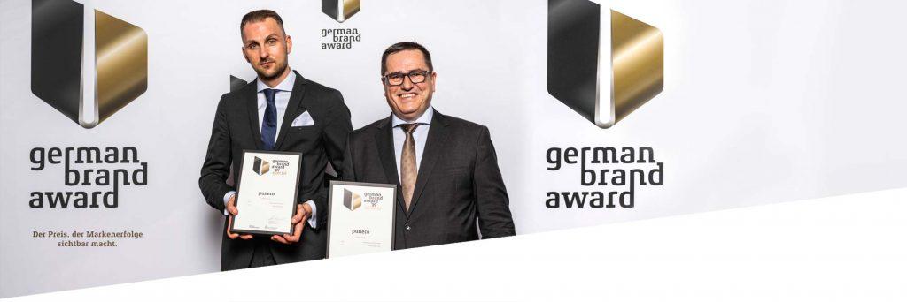 Ulrich Zimmermann und Siegfried Fuchs von der PREMO GROUP erhalten den German Brand Award