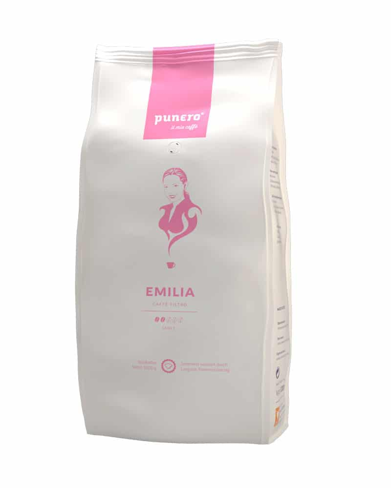 punero Kaffee-Charakter Emilia