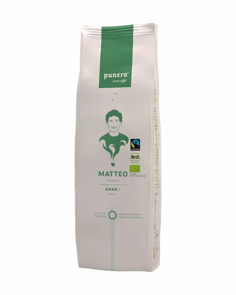 punero Kaffee-Charakter Matteo